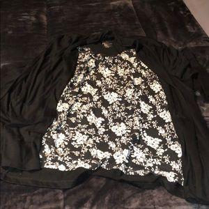 White stag mock jacket shirt
